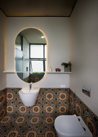 Contemporary Powder Room by ma+rs