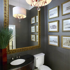 Traditional Powder Room by Lucid Interior Design Inc.
