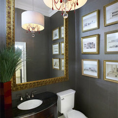eclectic powder room by Lucid Interior Design Inc.