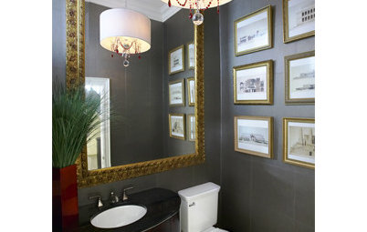 10 Artful Powder Rooms