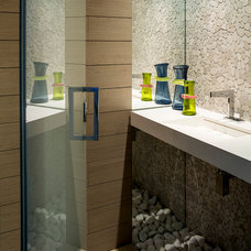 Contemporary Powder Room by BBH design Studio
