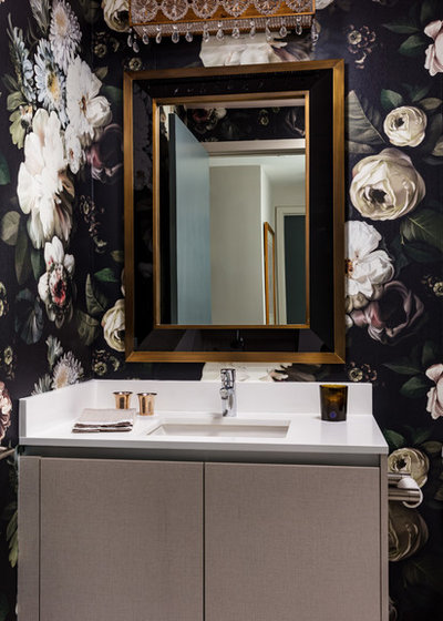 Transitional Powder Room by Sarah Schmidt