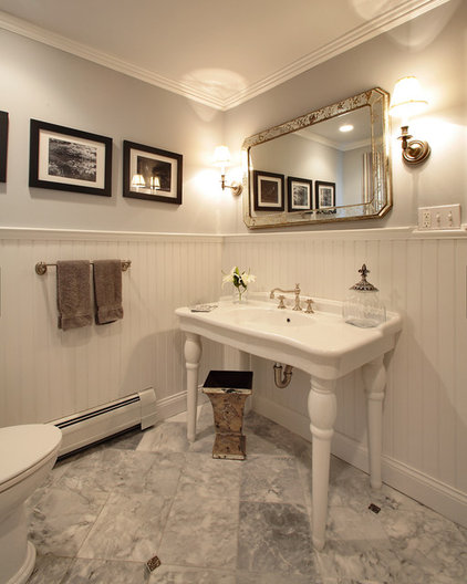 traditional powder room by Olga Adler