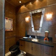 Eclectic Powder Room by Elena Zennaro Design
