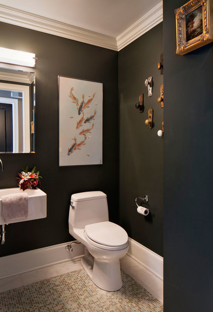 Transitional Powder Room by Inspired Interiors