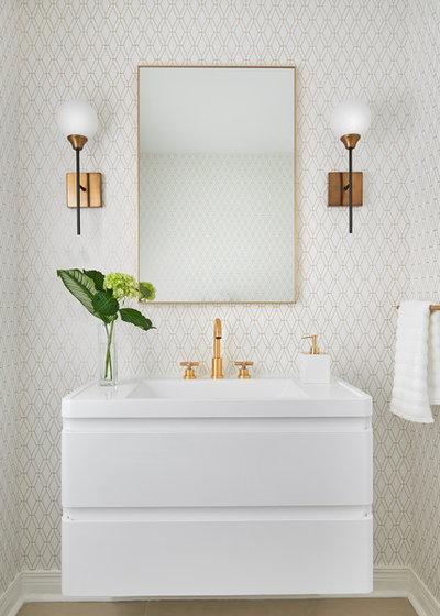Contemporary Powder Room by Diana Bastone Designs