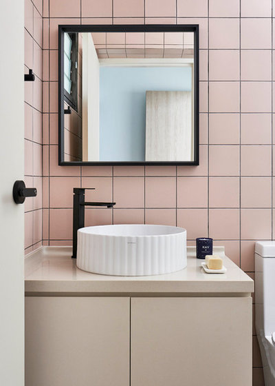 Contemporary Powder Room by Studio FortyFour