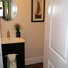 Traditional Powder Room Home Staging Boston MA-Interior Stage Design- photo gallery