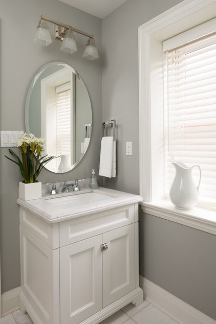 Transitional Powder Room by Parkyn Design