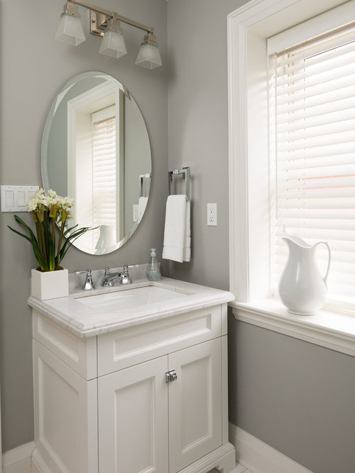 Transitional Powder Room Design Ideas Remodels Amp Photos