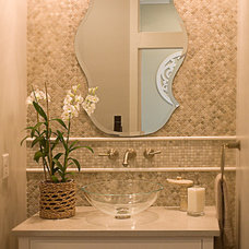 Tropical Powder Room by B&T Kitchens and Baths