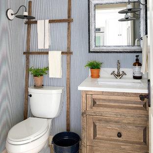 Landhausstil Gästetoilette & Gäste-WC mit Toilette mit ...