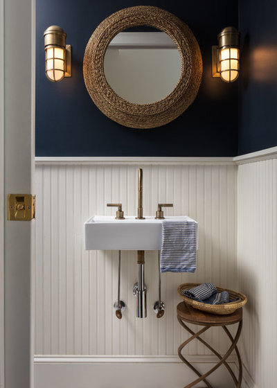 Beach Style Powder Room by M&P Design Group