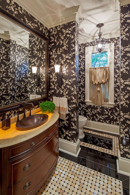 Traditional Powder Room by Peter A. Sellar - Architectural Photographer