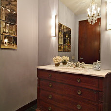 Eclectic Powder Room by Four Square Design Studio