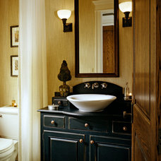 Traditional Powder Room by Richard Ross Designs