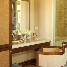 Contemporary Powder Room by Michael Fullen Design Group