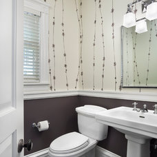Transitional Powder Room by Tom Stringer Design Partners