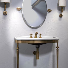 Contemporary Powder Room by Lea Bassani Design