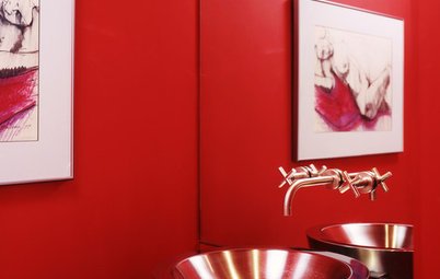 Sensible Style for Your Holiday Powder Room