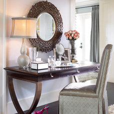 Eclectic Powder Room In Atlanta Homes with Thomasville Furniture