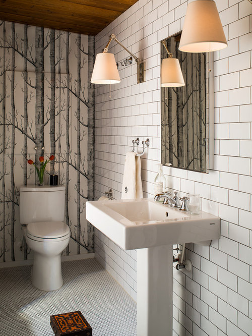 Grey Grout In White Tile Design Ideas Amp Remodel Pictures