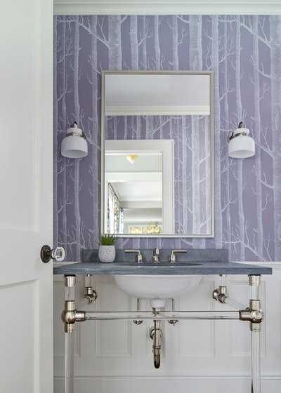 Fusion Powder Room by Jess Cooney Interiors