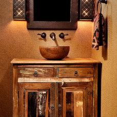 Contemporary Powder Room by Trauner Designs