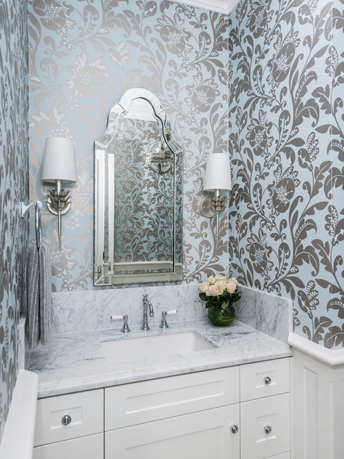 Photo Of A Transitional Powder Room In Brisbane.