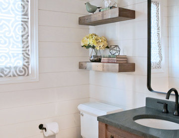 Industrial Rustic Powder Room