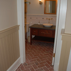 Traditional Powder Room by Inglenook Tile Design