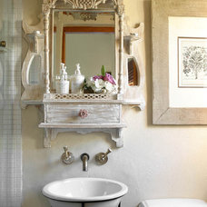 Traditional Powder Room by Karen Schaefer Louw