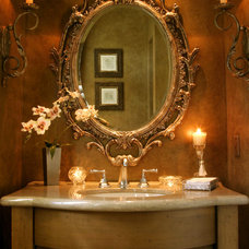 Traditional Powder Room by Lawler Design Studio