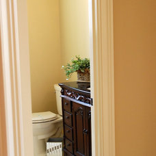 Traditional Powder Room by Michael Buss Architects, Ltd