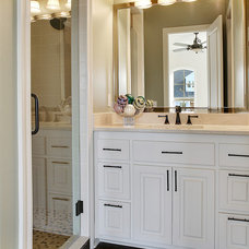 Modern Powder Room by Vision Investment Group NOLA
