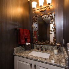 Traditional Powder Room by J.S. Brown & Co.