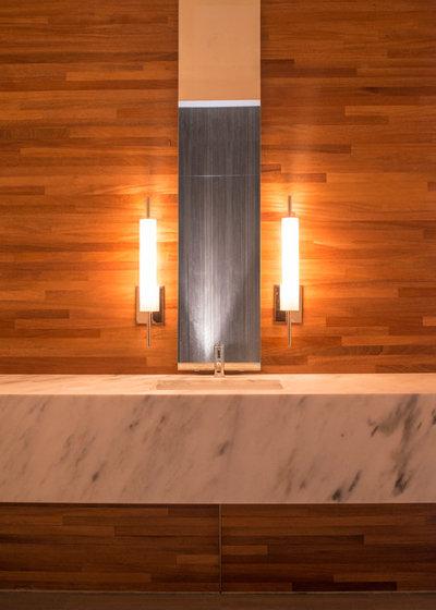 Modern Powder Room by NIMMO American Studio For Progressive Architecture