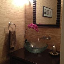 Traditional Powder Room by Zero Latitude