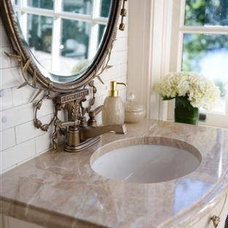 Traditional Powder Room by Luck Stone Center