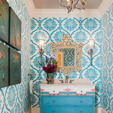 Eclectic Powder Room by Jeff Herr Photography