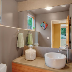 contemporary powder room by David Neiman Architects