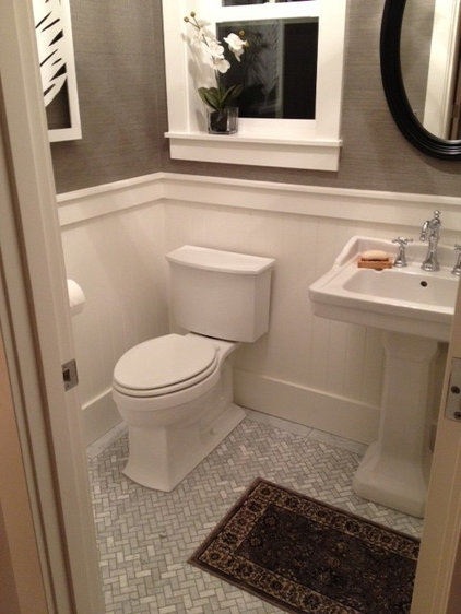 Traditional Powder Room by TTM Development Company