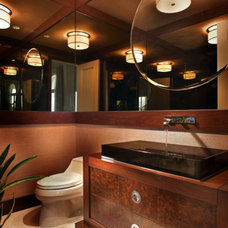 Contemporary Powder Room by b+g design inc.