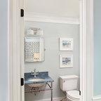 Coastal Cottage Beach Style Powder Room Providence