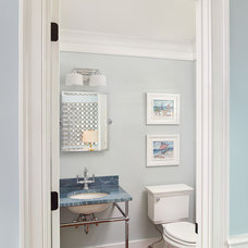 Tropical Powder Room by Structures Building Company