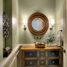Traditional Powder Room by Hilary Young Design Associates