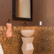Contemporary Powder Room by DIVA INTERIOR CONCEPTS