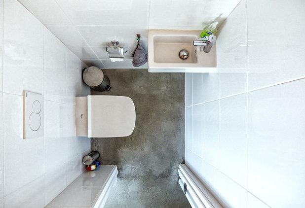Contemporary Powder Room by Park City Design Build