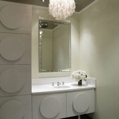 modern powder room by Jamie Herzlinger