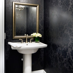 modern powder room by Jane Lockhart Interior Design